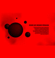 halftone 3d black spheres on a red background vector image