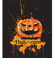 halloween watercolor pumpkin dark spooky vector image