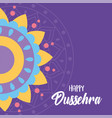 happy dussehra festival india colored mandala vector image vector image
