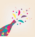 happy new year colorful champagne bottle vector image vector image