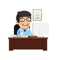 Head Physician at His Desk vector image vector image