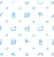 hobby icons pattern seamless white background vector image vector image