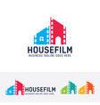 house film logo design vector image vector image