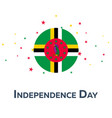 independence day of dominica patriotic banner vector image vector image