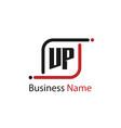 initial letter vp logo template design vector image vector image