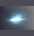 lens flare realistic flare glow effect vector image