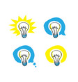 lightbulb scribble representing idea in 4 versions vector image