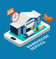 logistics isometric concept vector image vector image