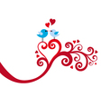 love birds with heart swirl