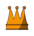 luxury king crown vector image vector image