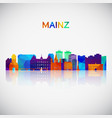 mainz skyline silhouette in colorful geometric vector image vector image