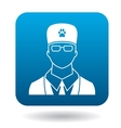 Male veterinarian doctor icon simple style vector image