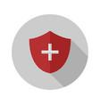 medical shield icon vector image vector image