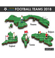 national soccer teams 2018 group g vector image