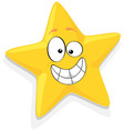 Of Happy Yellow Star Cartoon Characte vector image vector image