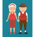 old people character avatar icon vector image