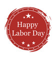 on day labor day on white background vector image