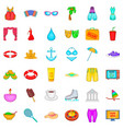 outdoor walking icons set cartoon style vector image vector image