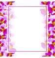 purple vanda miss joaquim orchid banner card vector image vector image