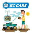 remote control joystick cars vector image