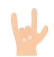 rockandroll hand finger shape icon heavy metal vector image