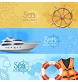 Sea Adventure Banners Set vector image vector image