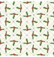 Seamless floral geometrical pattern with ilex vector image vector image
