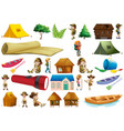 set camping element vector image vector image