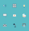 set of creative icons flat style symbols with idea vector image vector image