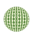 sphere planet dollars icon vector image