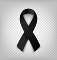 stock black awareness ribbon vector image vector image
