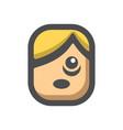 stress confused man icon cartoon vector image