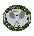 the theme badminton vector image vector image