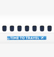 time to travel in flat design vector image vector image