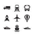 transport icons set transportation logistic conce vector image vector image