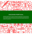 travel portugal concept banner template in line vector image vector image