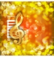 treble clef and a saxophone piano keys bright vector image vector image