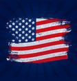 usa flag grunge background can be used as banner vector image vector image