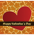 valentine day card with heart and cookies vector image vector image