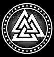 valknut ancient pagan nordic germanic symbol vector image