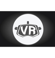Virtual reality glasses flat icon vector image vector image