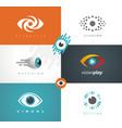 visual media logos symbols icons and signs vector image vector image