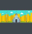western church banner flat style vector image vector image