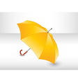 Yellow umbrella vector image vector image