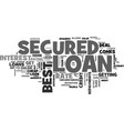a cheap secured loan can be found online text vector image vector image