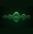 abstract music sound wave vector image vector image