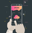 augmented reality cloud offcie storage mobile app vector image vector image