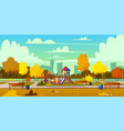 background of playground in park autumn vector image vector image