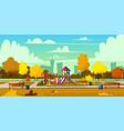 background playground in park autumn vector image