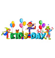 Banner design with word kids day vector image vector image